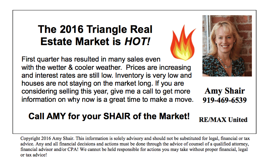The Triangle Real Estate Market is Hot